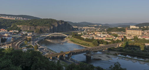 Panorama of Usti nad Labem town