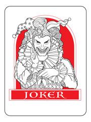 Joker playing card design.