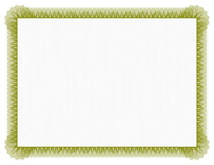 Classic style Certificate with green floral border