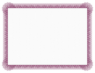 Classic style Certificate with red floral border