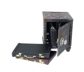 Briefcases in a Vintage Safe