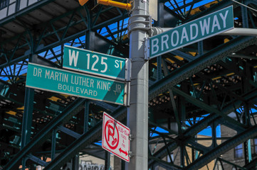 125th and Broadway Street Sign