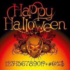 angry halloween skull