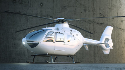 Helicopter White