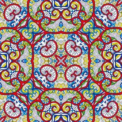 Printed kitchen splashbacks Moroccan Tiles Ornamental Tribal Seamless pattern.