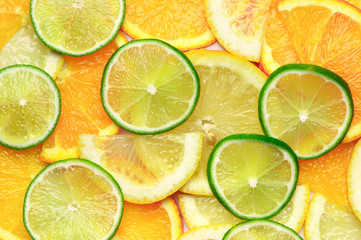 Citrus mix background