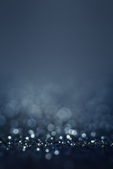 Abstract bokeh background - Lights on blue background..