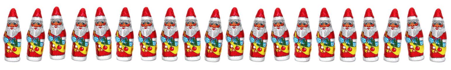 Frise Père Noël en chocolat