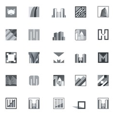 Abstract Building Vector Icons