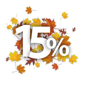 15 Percent Autumn Foliage