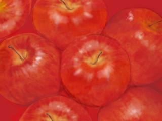 リンゴのイラスト