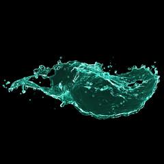 splash on black background. Paint splash for design use. splash paint isolated.