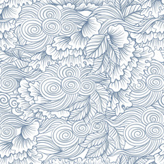 Seamless pattern in japaneese style