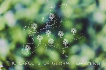 global warming, europe and funny electric fans