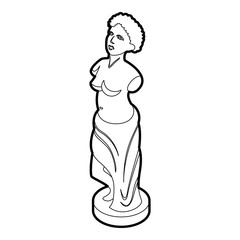Statue icon in outline style on a white background vector illustration