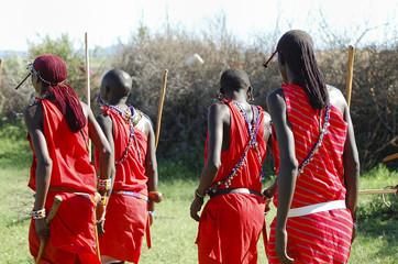 Wall Mural - Masai Men - Kenya