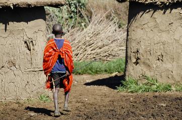 Wall Mural - Masai Child - Kenya