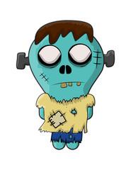 cute zombie, halloween frankenstein vector symbol icon design.