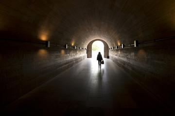 Poster Tunnel Blick durch einen Tunnel