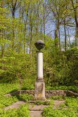 UKRAINE, BELAYA TSERKOV : Column with a globe in the eastern rav