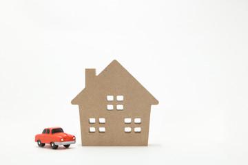 家と車 ミニチュア