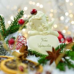 Weihnachtsengel mit Herz - Frohe Weihnachten