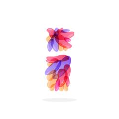 Letter I logo formed by watercolor splashes.