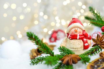 Schneemann an Weihnachten