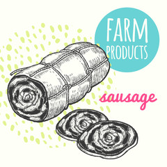 Farmer's sausage product.