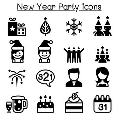 Happy new year icons