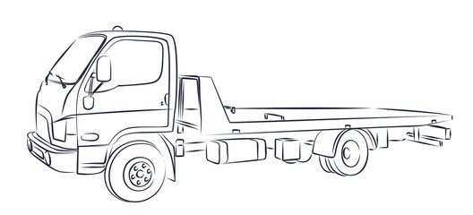 Urban sketch towing.