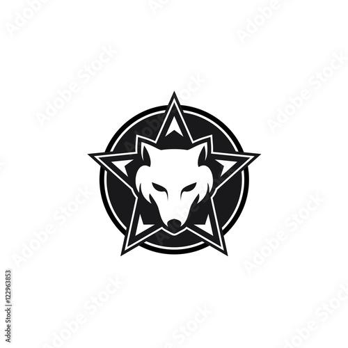 quotwolf star emblem logo modern vector iconquot fichier