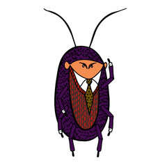 Cockroach in a good suit.