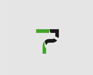 Abstract Number 7 logo Symbol icon