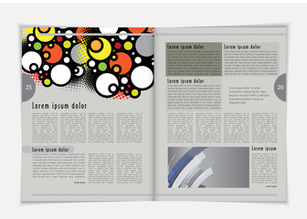 Business layout magazine, vector