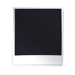 Instant blank photo template. Empty photo frame template. Retro
