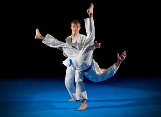 Foto op Aluminium Vechtsport Children martial arts fighters