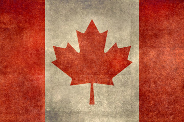Flag of Canada with distressed grungy treatment
