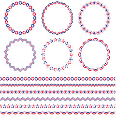red white blue patriotic frames and borders