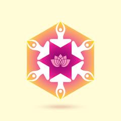 Illustration of yoga/spa.
