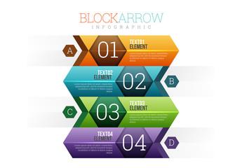 Block Arrow Infographic