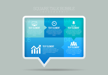 Rectangular Bubble Infographic