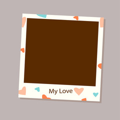 Photo frame vector for love