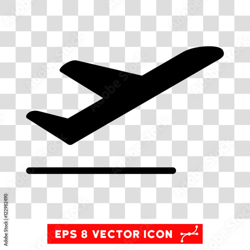 Vector Airplane Departure EPS Icon Illustration Style Is Flat Iconic Black Symbol On A