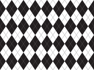Black white argyle seamless pattern