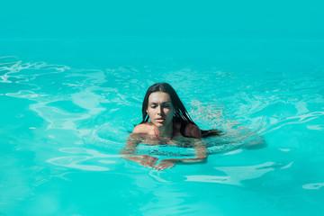 Model in pool