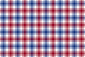 Red blue white check plaid texture seamless pattern background