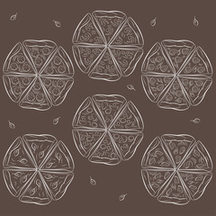 Set of pizzas. Vector illustration of pizza