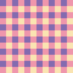 Subdued pink, purple and yellow seamless checkered background
