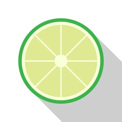 Lime flat icon on isolated transparent background.